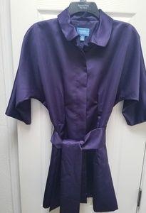 Vera Wang purple satin, light-weight coat